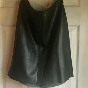Leather mini skirt size 6